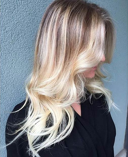 Blonde Balayage Hair Look