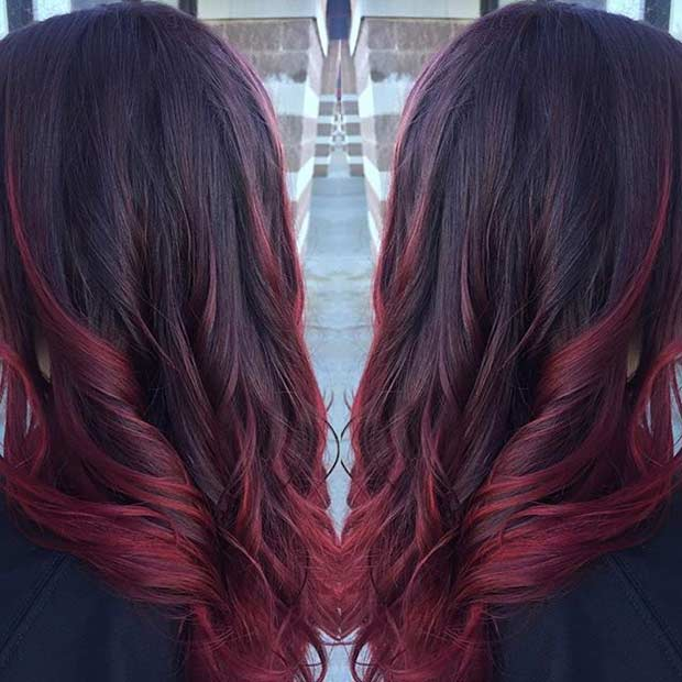 21 amazing dark red hair color ideas stayglam wine red hair with hot red highlights pmusecretfo Choice Image
