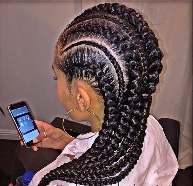 Pleasant 31 Stylish Ways To Rock Cornrows Stayglam Short Hairstyles For Black Women Fulllsitofus