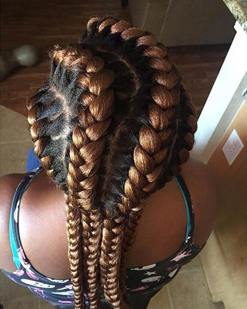Caramel Brown Goddess Braids