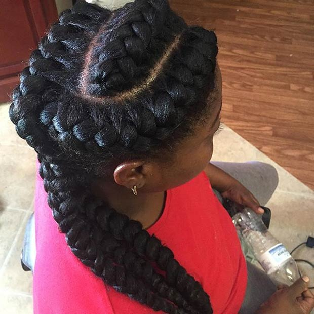 Terrific 31 Goddess Braids Hairstyles For Black Women Stayglam Hairstyles For Women Draintrainus