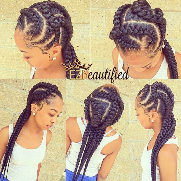 Cornrow Hairstyles braid hairstyles pineapple cornrow braids Kris Kross Big Cornrow Braids