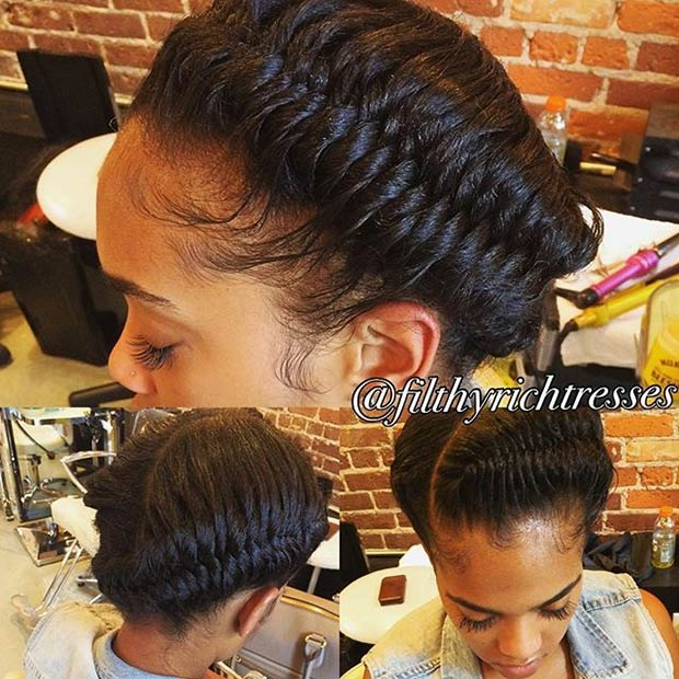 Goddess Fishtail Braids Updo