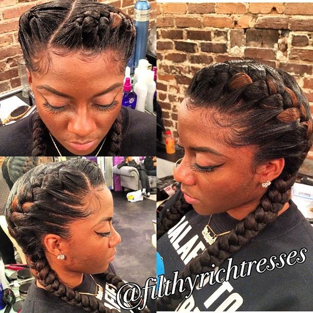Fantastic 31 Goddess Braids Hairstyles For Black Women Page 3 Of 3 Stayglam Hairstyle Inspiration Daily Dogsangcom