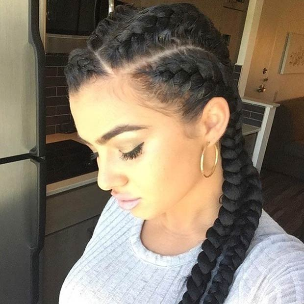 friends hairstyles : Four Goddess Braids Style