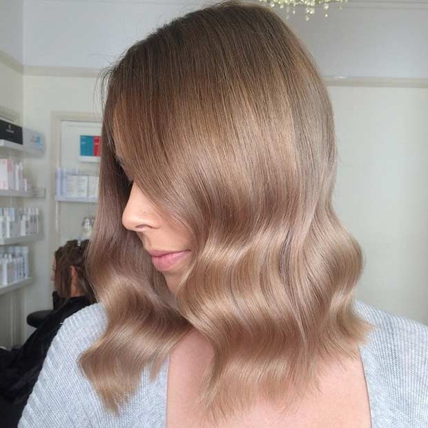 Sandy Blonde Long Bob Hairstyle