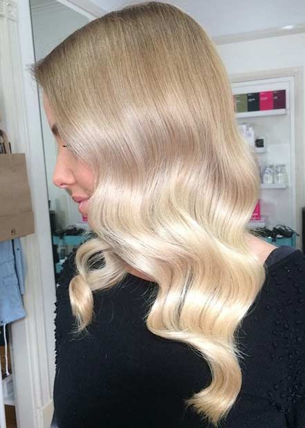 Soft Blonde Balayage Hair Look