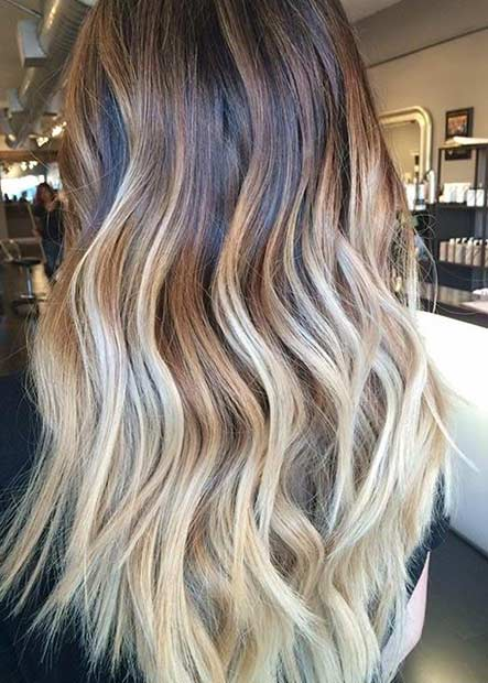Blonde Balayage Highlights for Brunettes