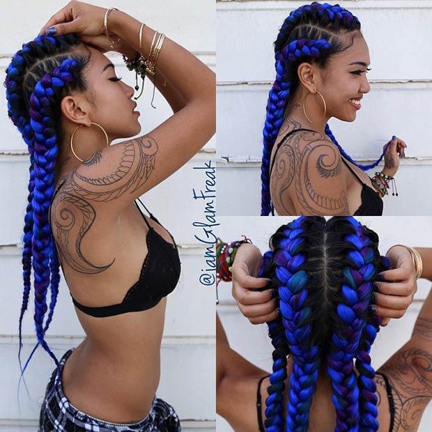 Strange 31 Goddess Braids Hairstyles For Black Women Stayglam Hairstyle Inspiration Daily Dogsangcom