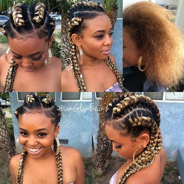 Astounding 31 Goddess Braids Hairstyles For Black Women Page 2 Of 3 Stayglam Short Hairstyles For Black Women Fulllsitofus