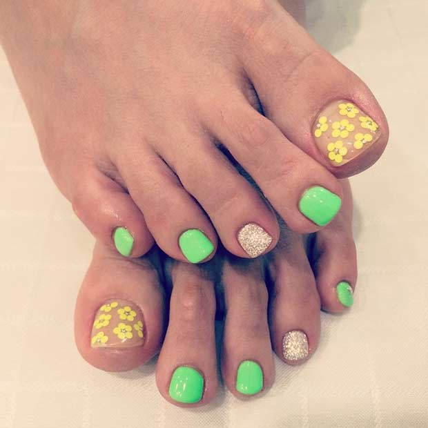 Floral Manicures For Spring And: 31 Easy Pedicure Designs For Spring