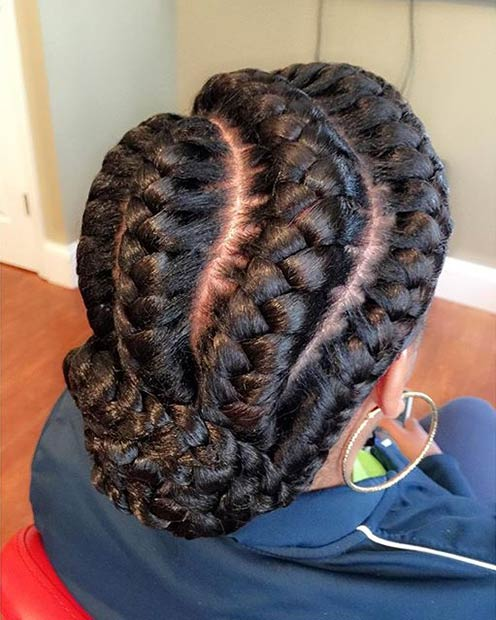 51 Goddess Braids Hairstyles For Black Women Page 2 Of 5
