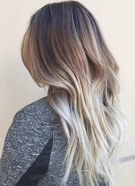 Beige Blonde Balayage Hair Color Look