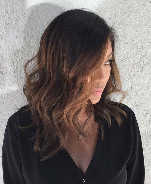Lob Haircut Idea for Brunettes