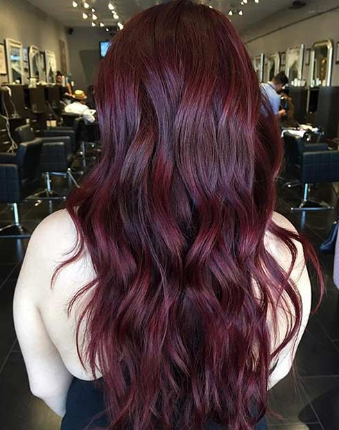21 amazing dark red hair color ideas page 2 of 2 stayglam deep burgundy hair color look urmus Images