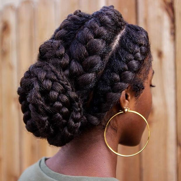 Goddess Braids Chignon Hairstyle