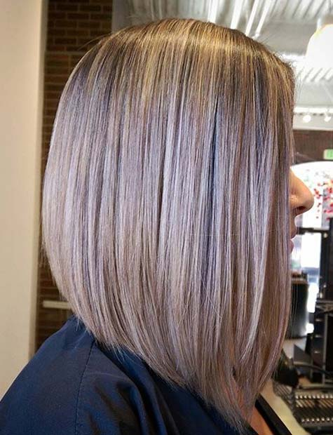 Soft Asymmetrical Beige Blonde Lob
