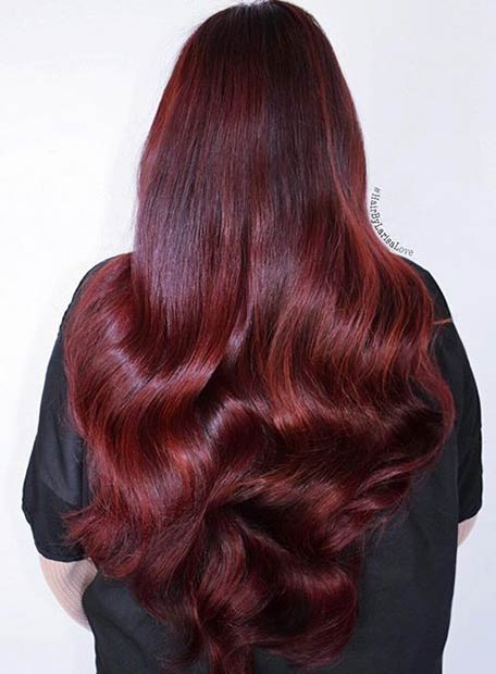 Deep Ruby Red Hair Color