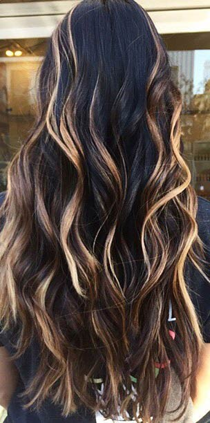 31 balayage highlight ideas to copy now page 2 of 3 stayglam golden blonde highlights on dark hair pmusecretfo Gallery