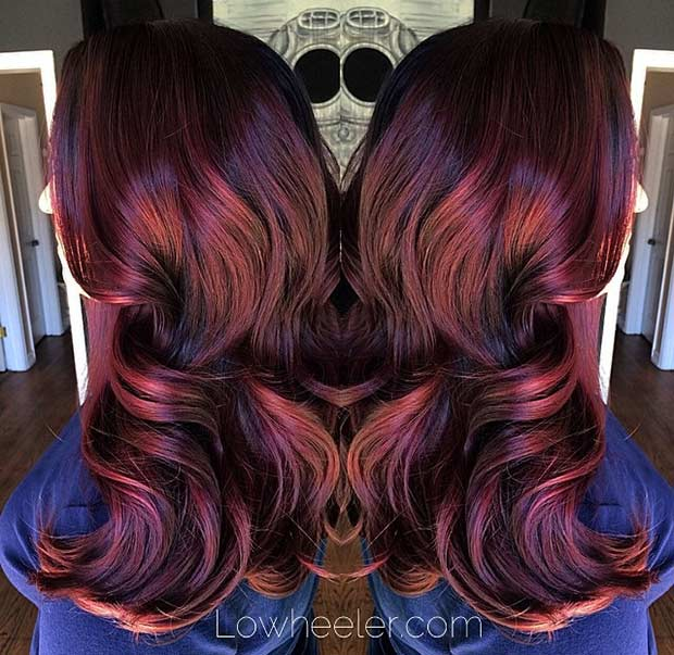 21 Amazing Dark Red Hair Color Ideas Stayglam