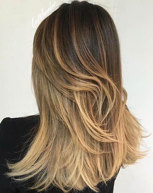 Dark Brown Hair Color Over Blonde Highlights