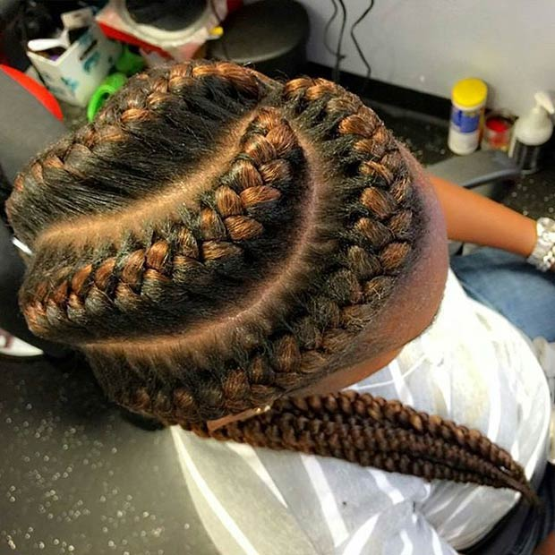 Three Chunky French Braids