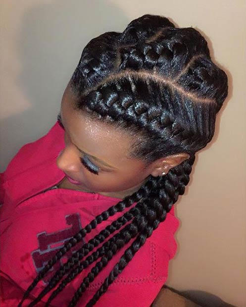 Fabulous 31 Goddess Braids Hairstyles For Black Women Stayglam Hairstyle Inspiration Daily Dogsangcom
