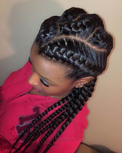 Sensational 31 Goddess Braids Hairstyles For Black Women Stayglam Hairstyles For Women Draintrainus