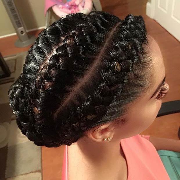 Marvelous 31 Goddess Braids Hairstyles For Black Women Stayglam Short Hairstyles Gunalazisus
