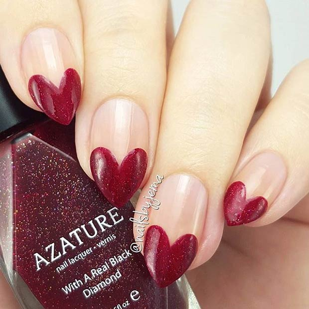 35 Cute Valentines Day Nail Art Designs Stayglam