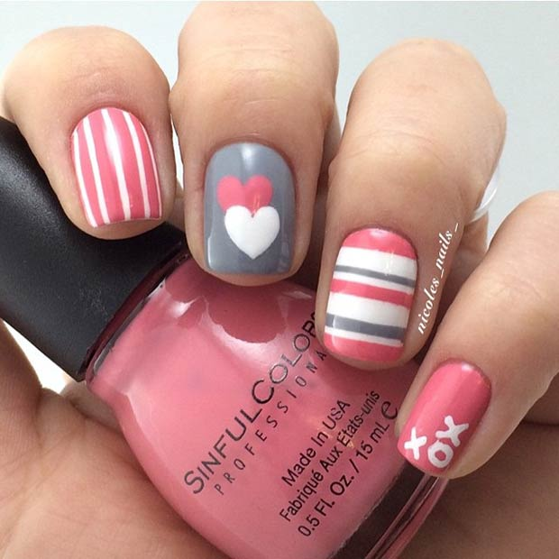 Simple Nail Design for Valentines Day - 35 Cute Valentine's Day Nail Art Designs Page 3 Of 3 StayGlam