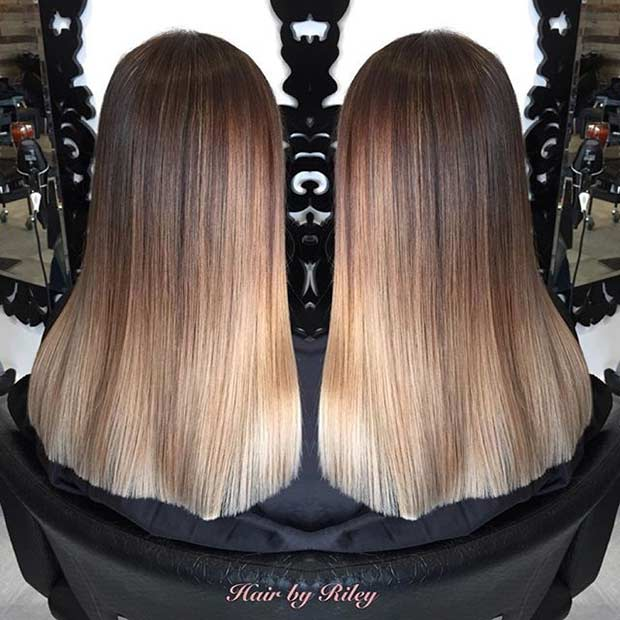 Brown and Blonde Hair Colourmelt
