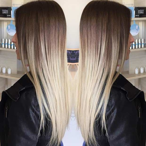 High Contrast Blonde Balayage