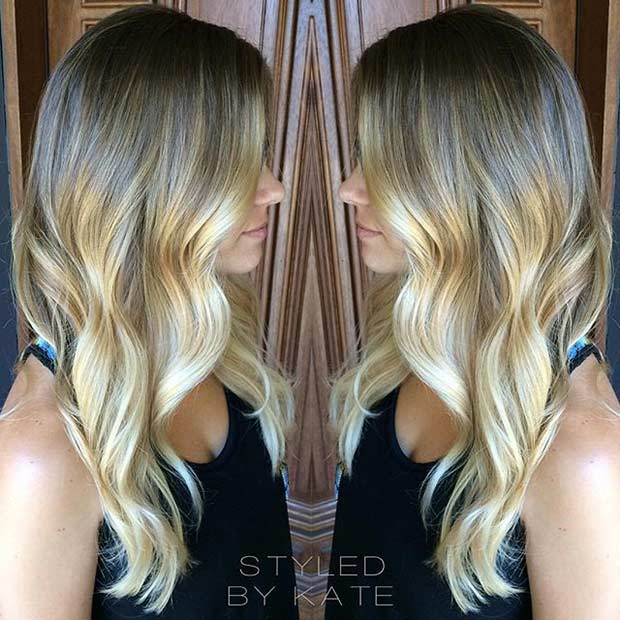 Sandy Blonde Balayage Hair