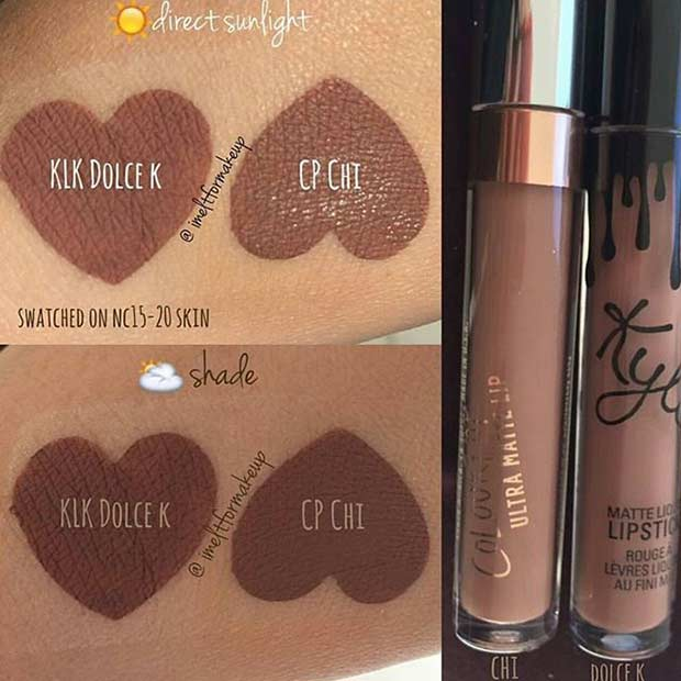 Kylie Jenner Lip Kit Dolce K Dupe
