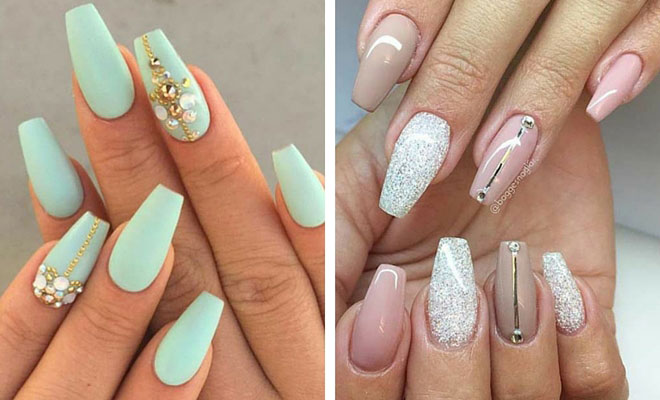 & 31 Trendy Nail Art Ideas for Coffin Nails | StayGlam