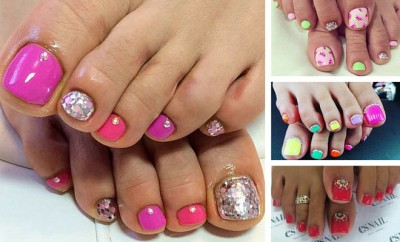 Easy Pedicure Designs for Spring