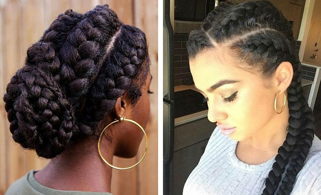 Black Hairstyles With Side Braids: 51 Goddess Braids Hairstyles For Black Women