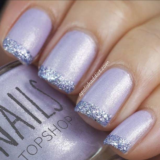31 cool french tip nail designs stayglam glitter french tip nails prinsesfo Images