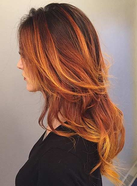 Fire Hair Color Idea