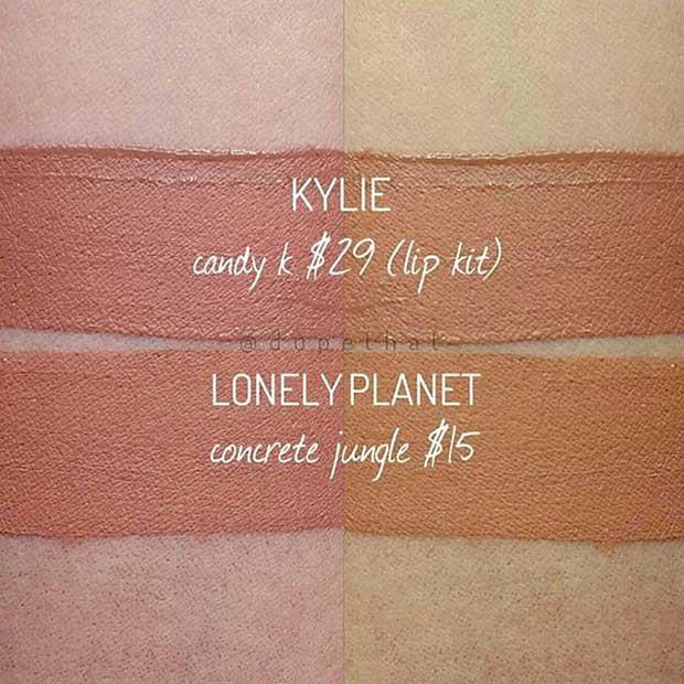 Kylie Lip Kit Candy K Dupe