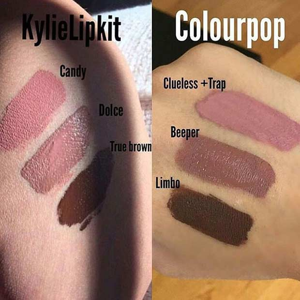 Kylie Jenner Lip Kit Dupes