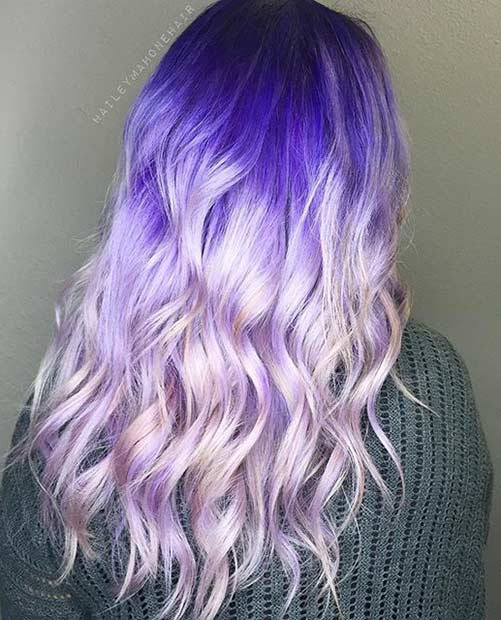 Vivid Purple to Pastel Purple Colormelt