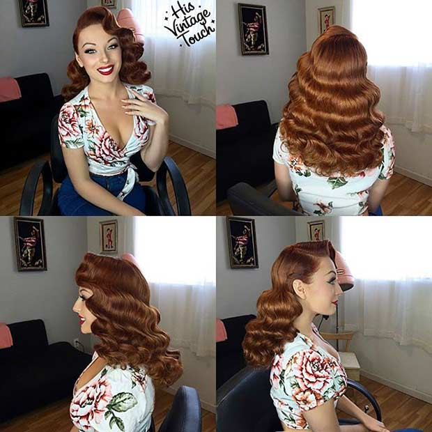 Retro Pin Up Curly Hairstyle