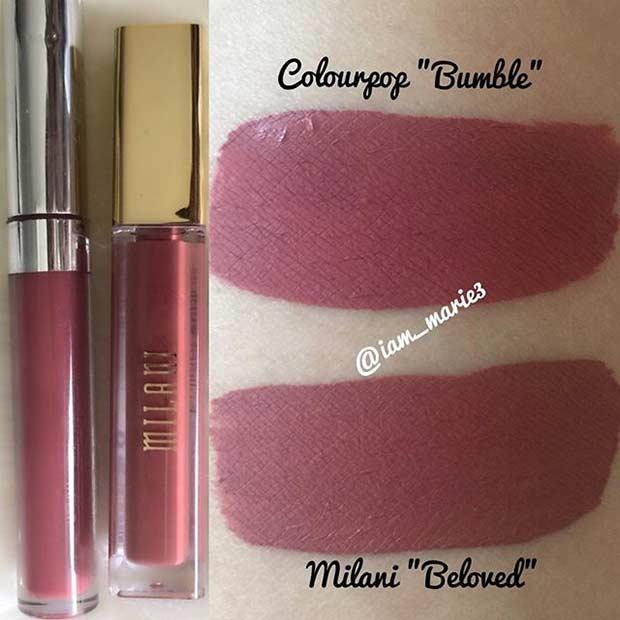 Milani Beloved Lipstick Dupe