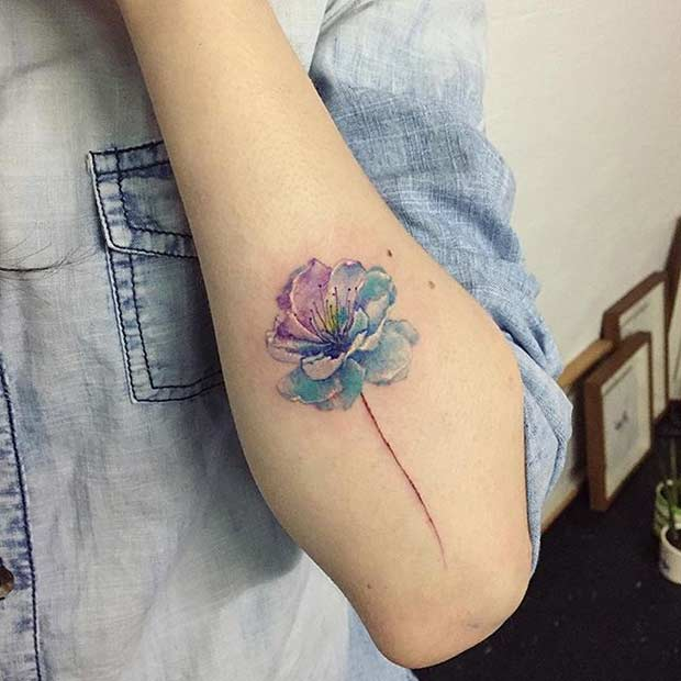 51 Watercolor Tattoo Ideas for Women | StayGlam
