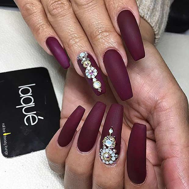 Image Gallery Matte Coffin Nails