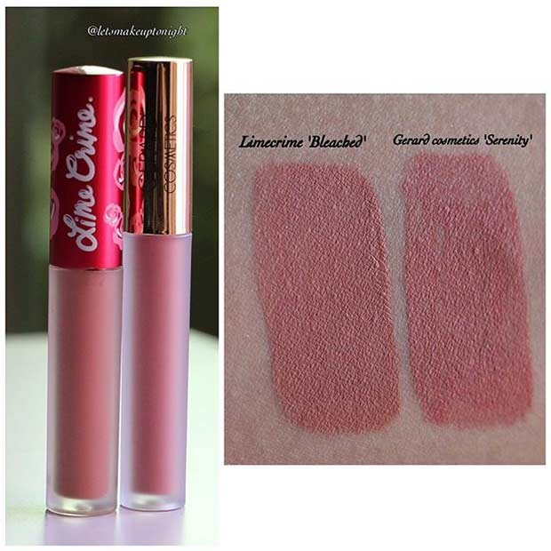 Lime Crime Bleached Lipstick Dupe
