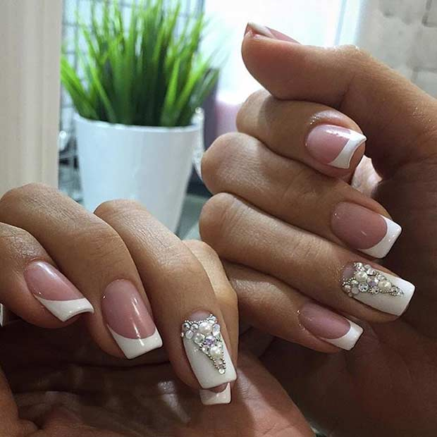 Elegant Wedding Manicure Idea