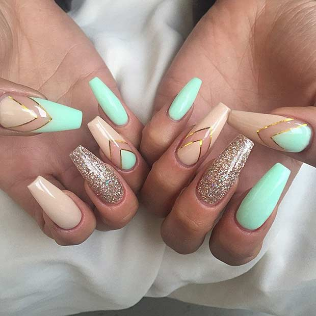 31 Trendy Nail Art Ideas For Coffin Nails Page 2 Of 3 Stayglam